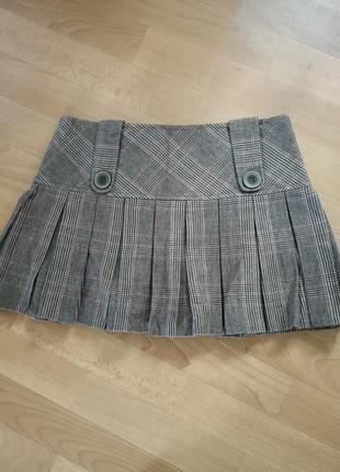 Теплая ,трендовая юбка в клетку ,,bay,,, укрпочта 15грн