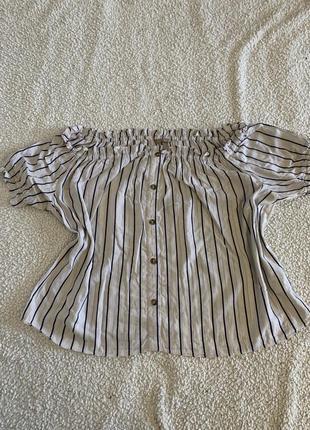 Натуральная блуза, кофточка с открытыми плечами