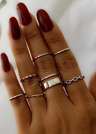 Тренд набор колец стильные кольца