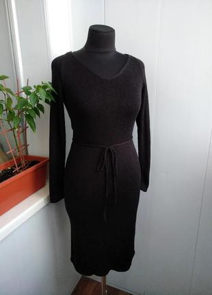 Вязаное платье. состав люкс. шерсть, шелк