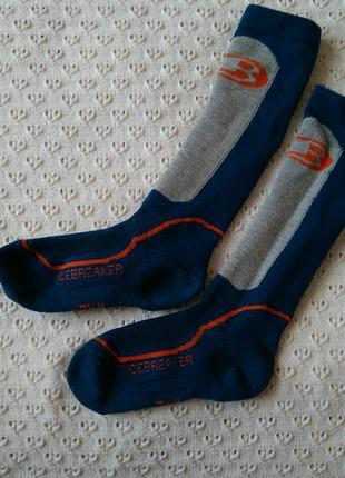 Термогольфы icebreaker с шерстью мериноса термо носки высокие лыжные шерстяные гольфи шкарпетки шерсть