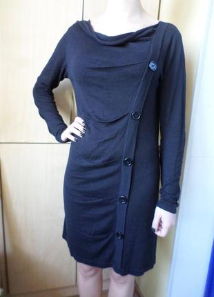 Платье миди  с длинным рукавом.vero moda