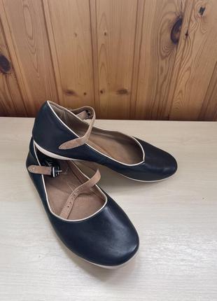 Балетки, туфли кожаные
