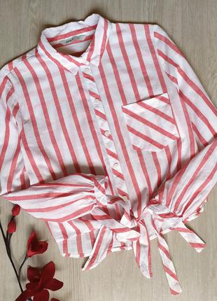 Женская укороченная рубашка
