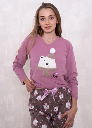 Качественная хлопковая пижама/домашний костюм кофта и штаны 42-50 турция