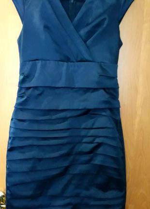 Платье атласное
