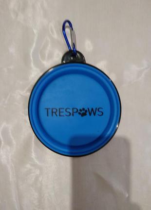Дорожная складная поилка для собак trespaws миска