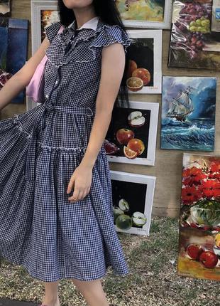 Шикарное платье в клетку винтаж