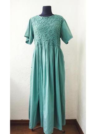 Женское хлопковое платье. отшито в италии. распродажа