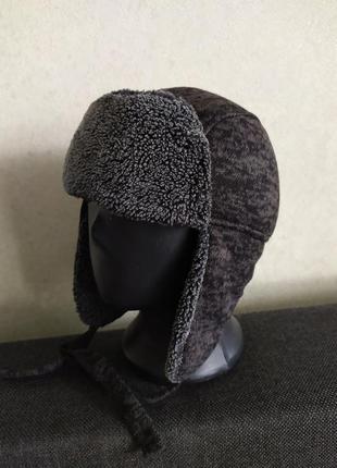 Зимняя шапка  ушанка для мальчиков 48/51 размер