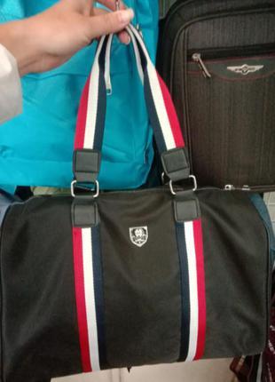 Тканевая сумка саквояж, дорожная, ручная кладь