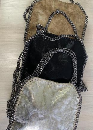 Женская кожаная сумка под stella mccartney