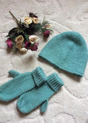 Головной убор zara (шапочка и варежки )