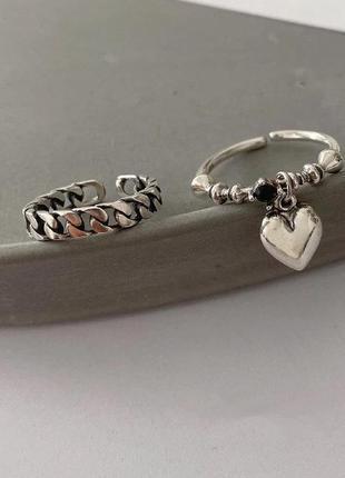 Кольцо-цепь мелкая. серебро 925