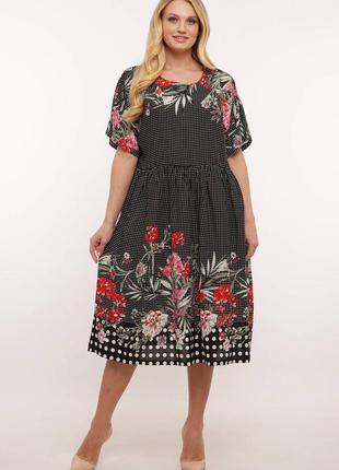 Платье женское летнее tatiana блум хлопок вискоза