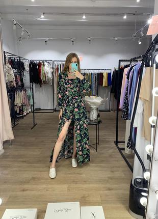 Туника - платье в цветочек
