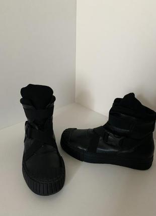 Демисезонные женские ботинки сапоги кроссовки кеды с резиновым носком замок застёжка
