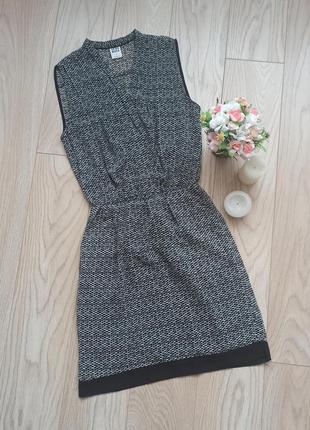 Легкое шифоновое платье в принт, xs