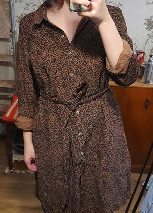 Вельветовое платье рубашка
