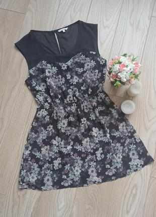 Красивое летнее платье в цветы, l
