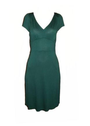 Базовое платье next вискоза, расклешенное платье по колено с v-образным вырезом