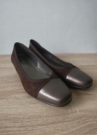 Hotter comfort  кожаные брендовые туфли - eu - 37.5