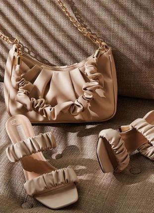 Мюли шлепанцы. в стиле боттега венета квадратный носок на каблуке шпилька шлепки