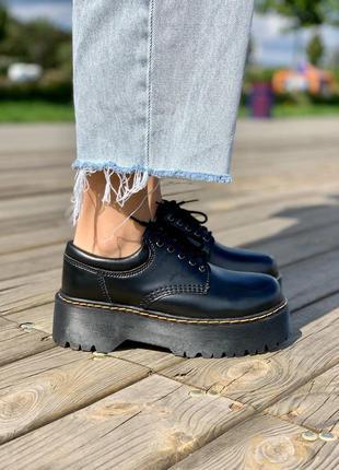 Туфли мартинс женские dr. martens black