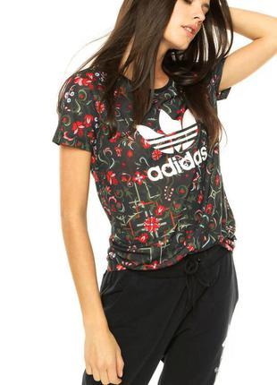 Adidas женская футболка оригинал адидас с логотипом для спорта