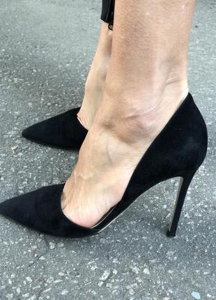 Замшевые туфли gianvito rossi