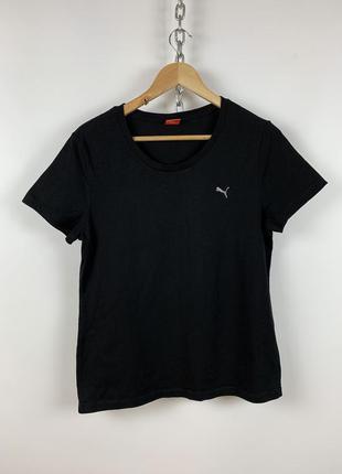 Оригинальная женская чёрная футболка puma