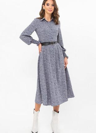 Красивое платье на пуговицах (3 цвета)* отличное качество