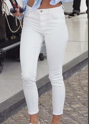 Обалденный белые джинсы со стразами