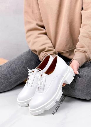 Від виробника! 36-41 рр туфлі на підошві і шнурках натуральна замша / шкіра