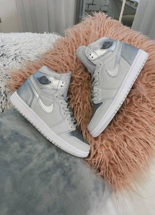 Nike air jordan retro 1 high titan silver