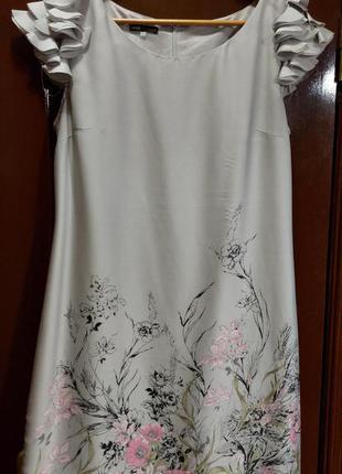 Платье нарядное oodji. в хорошем состоянии, размер l/xl.  без пятен и дырок