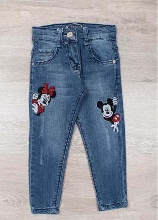 Синие джинсы с микки