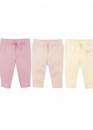 Набор утеплённые штанишек для девочки 74-80