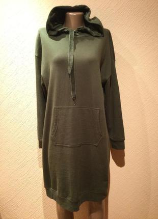 Стильное котоновое платье худи от bpc collection.