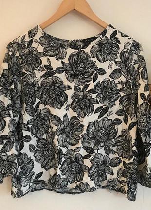 Блуза в цветочный принт zara zara zara