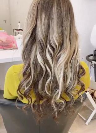 Натуральные волосы для наращивания 45 см