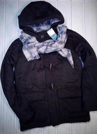 Шикарное шерстяное зимнее пальто, дафлкот,  куртка- пальто,152- 158, jasper conran