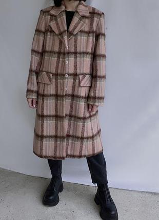 Актуальне тепле шерстяне осіннє пальто