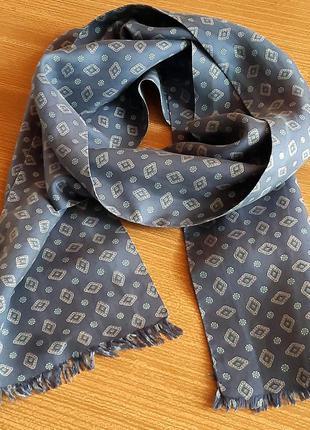 Стильное мужское кашне,  мужской  шарф   100% шелк  pura seta/ tiffany/ италия /винтаж