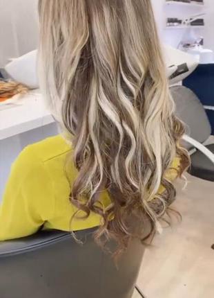 Натуральный новый срез волос.