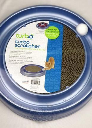 Интерактивная игрушка когтеточка для котов coastal turbo scratcher