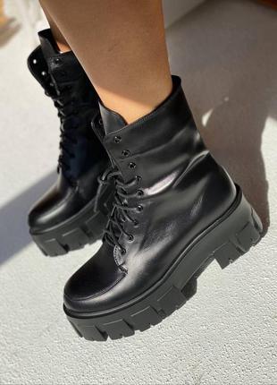 Ботинки чоботи шкіра кожа сапоги деми