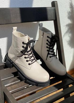 Ботинки кожа шкіра деми сапоги чоботи