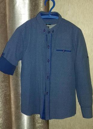 Рубашка мелкий принт varetti рукав трансформер