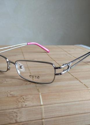 Распродажа фирменная металлическая оправа под линзы, очки exte 264